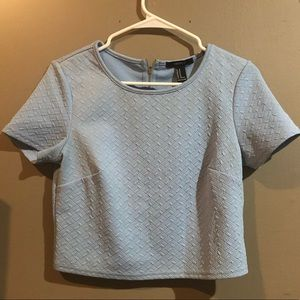 Forever 21 Light Blue Crop Top- like new!
